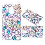 KAKA(TM) Diamante Butterfly Bowknot Flowers Crystal Rhinestone Hard Cover Case for Samsung Galaxy Note 3