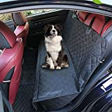 Dog Car Seat Covers Waterproof Pet Seat Cover for Cars Trucks & SUVs Black Nonslip Backing, Hammock Convertible