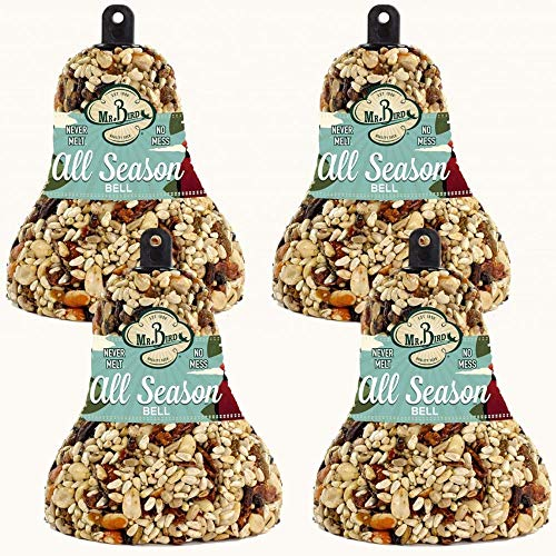 4-Pack of Mr. Bird All Season Fruit & Nut Wild Bird Seed Bell 14 oz.