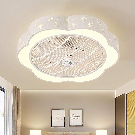 Luz de ventilador Lámpara de techo de dormitorio Simple Habitación ...