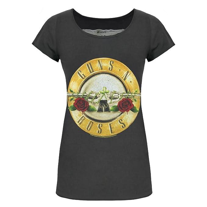 Amplified - Camiseta Oficial Modelo Guns N Roses Drum para Mujer: Amazon.es: Ropa y accesorios