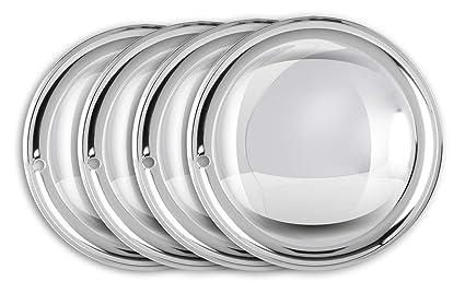 Moon Caps 13 pulgadas (2 x) de acero inoxidable pulido ...