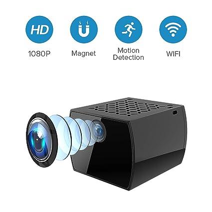 TAOCOCO Cámara Espía Oculta 1080P FHD Mini WiFi Cámara IP de Seguridad/Visión Nocturna por