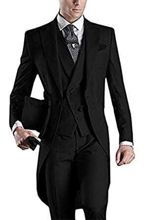 cf86653a6208 Jingmo 2018 Fashion Tailcoat Suit for Men 3 Pieces Formal Blazer Tuxedos at Amazon  Men's Clothing store: