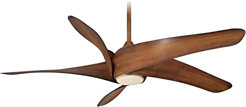 Minka Aire F905L-DK Artemis XL5-62 Inch Ceiling Fan with Light Kit, Distressed Koa Finish with Distressed Koa Blade Finish with Tinted Opal Glass