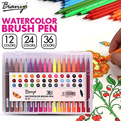 Bianyo 12/24/36 Colors Safe Non-toxic Indonesia Lead Water Soluble Colored Pencil Watercolor Pencil Set For Write Drawing Art Supplies by Bianyo that we recomend personally.