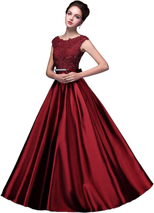 Beauty-Emily Abendkleider Hochzeitsg/äste Damen /ärmellos Lang Tull R/ückenfrei