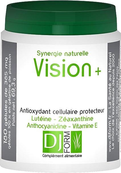 Vision Plus – 180 Cápsulas – antioxydants naturales para los ojos y la piel – Luteína