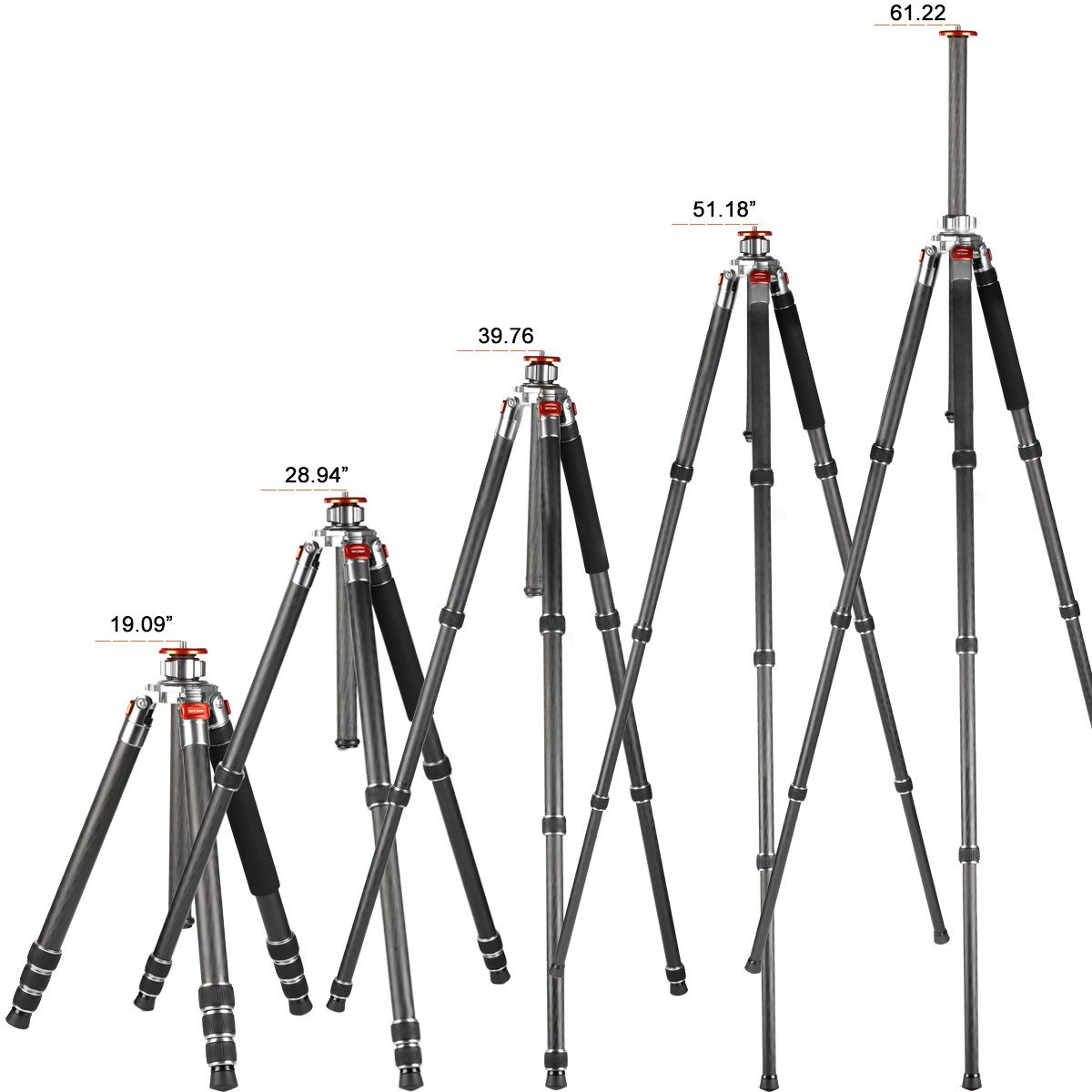 K&f Concept Carbon Fiber Camera Tripod 4 Section 61 Inch with Load Capacity 26.46lbs Monopod for Camera DSLR DV Canon Nikon Sony by K&F Concept (Image #8)