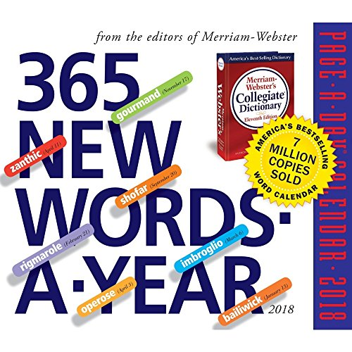 365 New Words-A-Year Page-A-Day Calendar 2018 cover