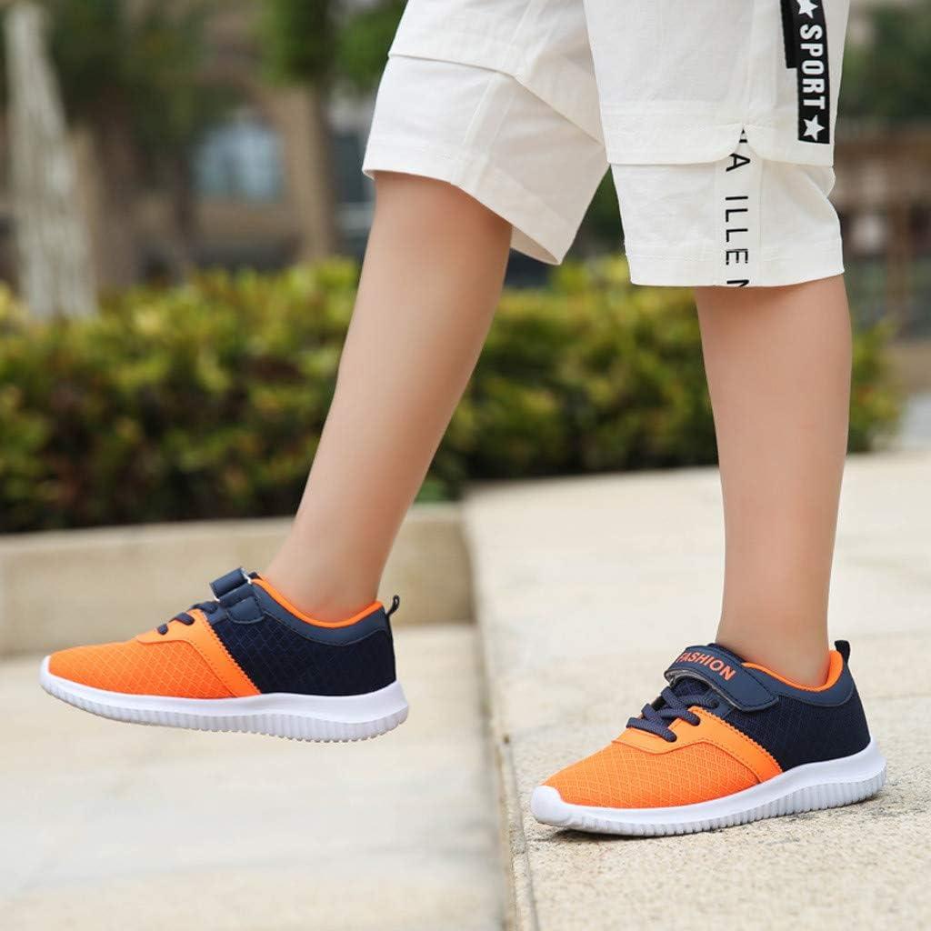 Basket Enfants Chaussures Maille L/ég/ère Gar/çon Chaussure de Sport Doux Fille Sneakers Comfortable Chaussures de Course Lumineux Antid/érapant Respirant Comp/étition 28-38