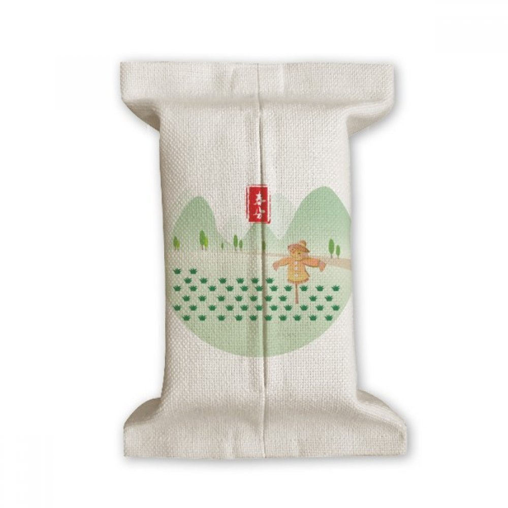 DIYthinker Vernal Equinox Twenty Four Solar Term Tissue Paper Cover Cotton Linen Holder Storage Container Gift