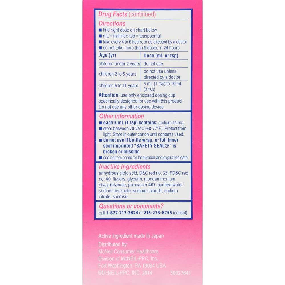 Childrens Benadryl Allergy Cherry Liquid 8 fl. oz. Box -- 24 per case.
