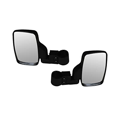 SuperATV Heavy Duty Side View Mirrors | 1 Pair | Fits 1.75'' Round Roll Cages | RZR 800, RZR 900, RZR 1000, RZR XP Turbo | Kawasaki Mule Pro, Teryx, Teryx4, Teryx KRX | Yamaha YXZ | Honda Pioneer 1000: Automotive