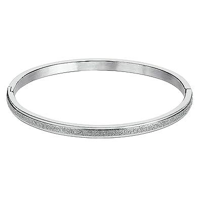 Inoxydable Accessoire Jonc Femme Brillant Acier Bracelet Simple WH9IDE2