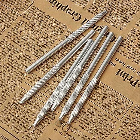 Juego de Herramientas de Escultura de Arcilla de Tallado de aleaci/ón de Aluminio Rosilesi 6Pcs//Set x Carving Scraper
