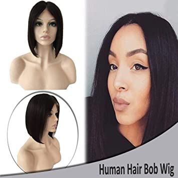 8 Inch Bob Lace Front Wigs Virgin Human Hair Short Straight Wigs for Black  Women Pre 94564846d3