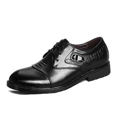 ailishabroy Zapatos de cordones de Piel para hombre Encaje Vestidos De Fiesta Oxfords