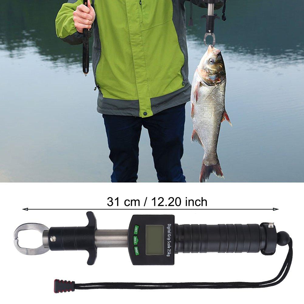 Fish Lippengreifer 25 kg Praktisches Greiferwerkzeug mit Digitaler Skala zum Angeln Fischern