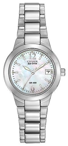 Citizen EW1670-59D - Reloj analógico de Cuarzo para Mujer, Correa de Acero Inoxidable Color Plateado: Amazon.es: Relojes