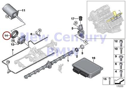 amazon com bmw genuine piston with rings and wristpin valve train o