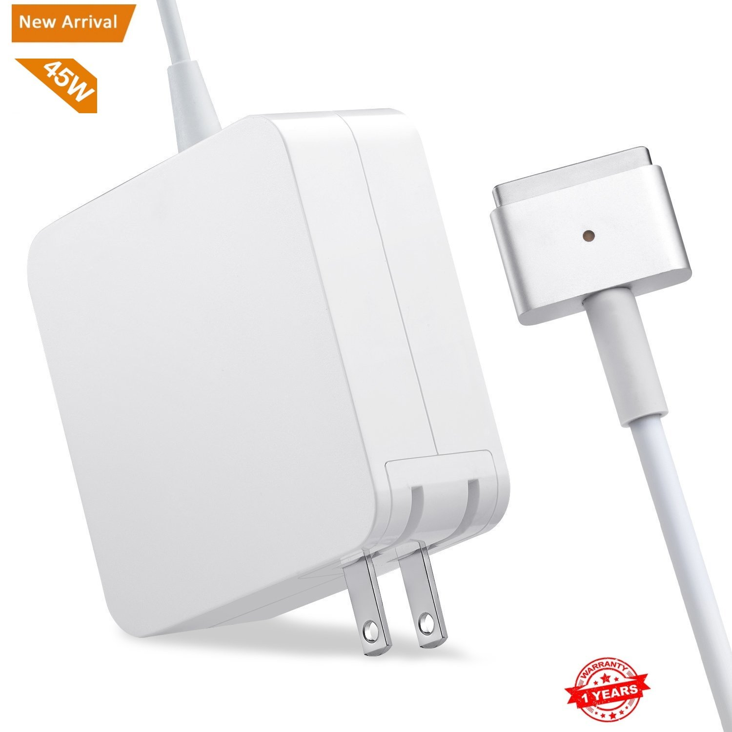 Macbook Air Charger,Replacement 45W Magsafe 2 Power Adapter T-Tip Magnetic Connector Charger for MacBook Air 11 inch and 13 inch (45W-T)