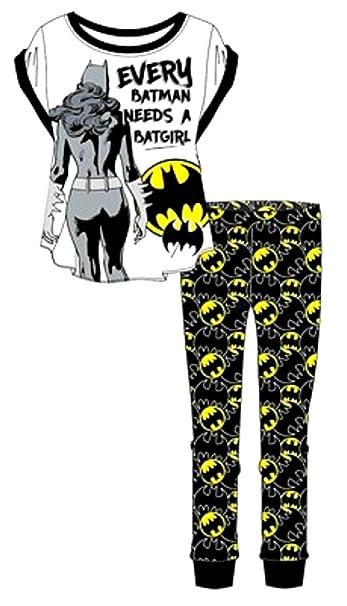 BATMAN, DC - Pijama - para Mujer Blanco Y Negro