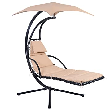 Exceptionnel Giantex Hanging Chaise Lounger Chair Arc Stand Air Porch Swing Hammock Chair  Canopy