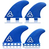 Naked Viking Surf: Large Bronn Quad Surfboard Fins (Set of 4 Fins) FCS & Futures Compatible