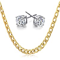 18k Rose Gold Necklace Stainless Steel Butterfly Pendant Jewelry Gifts for Women