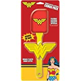 ICUP DC Comics Wonder Woman Silicone Spatula With Removable Head & Plastic Cookie Cutter Combo