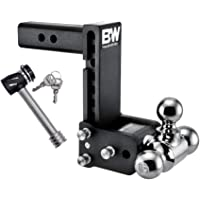 "B&W Tow & Stow - Fits 2"" Receiver, Tri-Ball (1-7/8"" x 2"" x 2-5/16""), 7"" Drop, 10,000 GTW, with Lock"