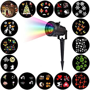 Laser Christmas Light, MQuer LED Projector Light with Remote Control 15 Pattern for Xmas , Halloween ,Holiday Party Landscape Decoration,IP65 Waterproof