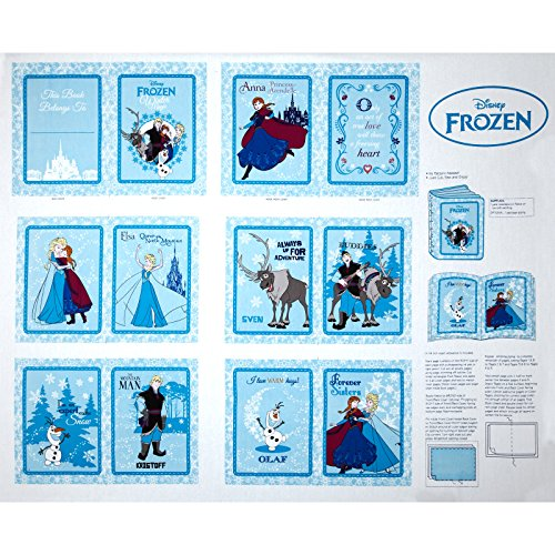 Disney Frozen Annas Friends Soft Book Panel Fabric White