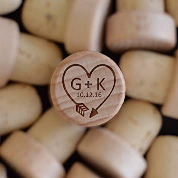 Amazon.com: Personalized Wine Stoppers Cross SET OF 5 Wood Wine ...
