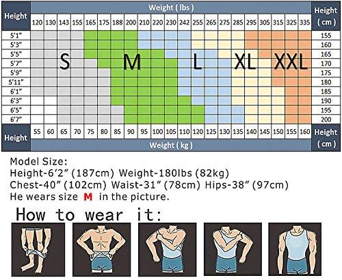 Hanerdun Mens Slimming Body Shaper Vests Undershirt Abs Abdomen Slim, White, Large by HANERDUN (Image #5)