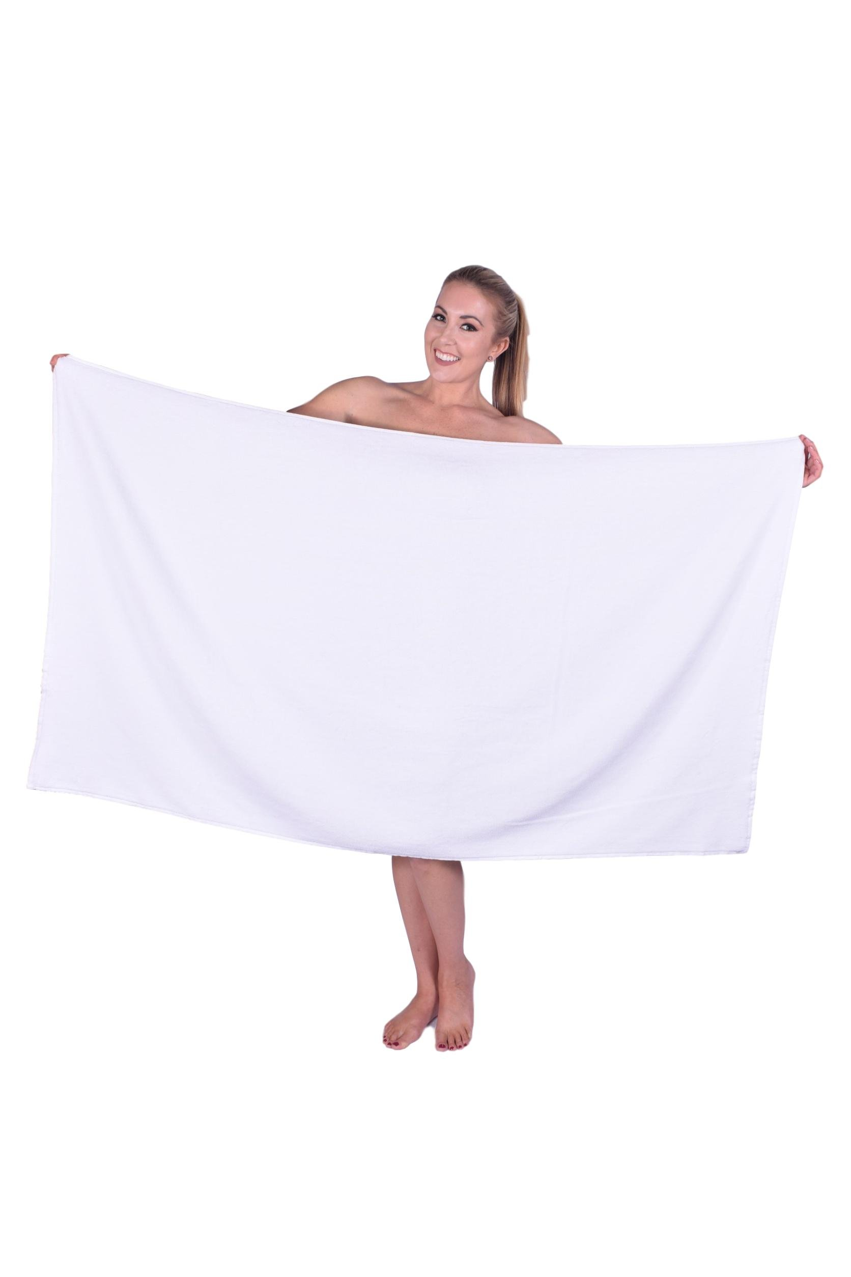 California Towel Luxury Hotel & Spa Multipurpose use Bath and Beach Towel Oversized%100 Genuine Terry Velour Turkish Cotton Oversize Company (1, White)