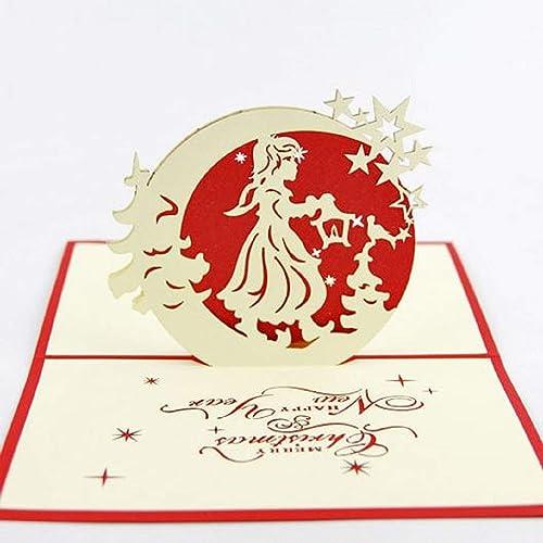 Immagini Di Natale Vintage.Bc Worldwide Ltd Fatto A Mano 3d Pop Up Cartolina Di Natale Vintage