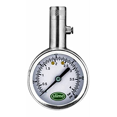 Slime 20049 Large Face Dial Tire Gauge, 5-60 PSI: Automotive