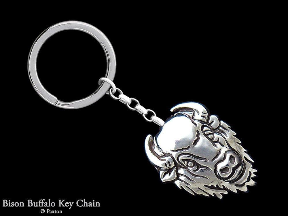 Om Symbol Keychain / Keyring Sterling Silver Handmade by Paxton
