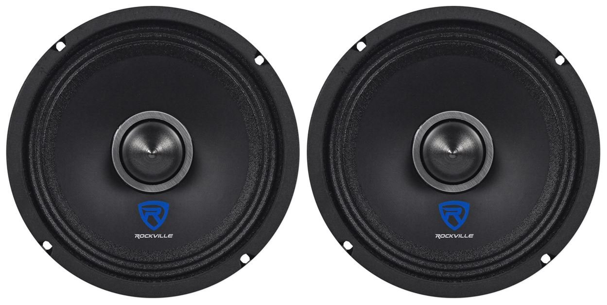 (2) Rockville RXM68 6.5'' 300w 8 Ohm Mid-Range Drivers Car Speakers, Mid-Bass