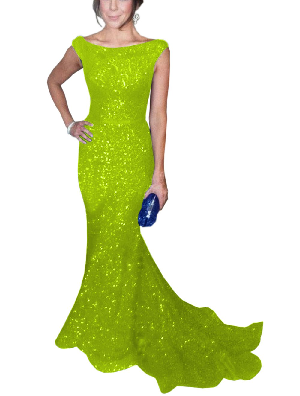 Lime Green Mermaid Dress: Amazon.com