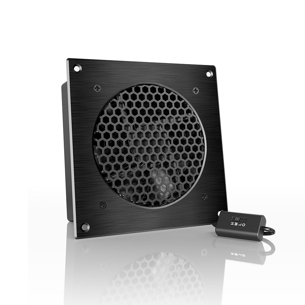 AC Infinity AIRPLATE S3, Quiet Cooling Fan System 6'' with Speed Control, for Home Theater AV Cabinets
