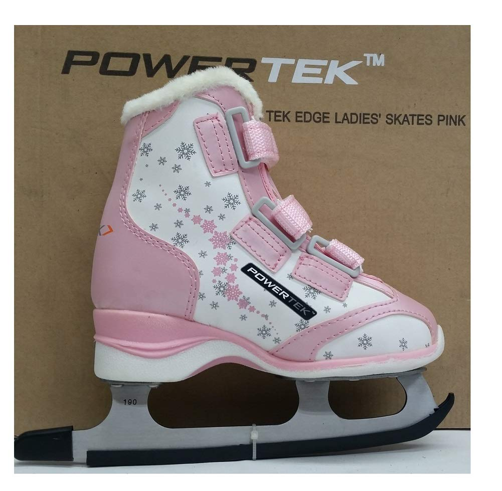 PowerTek V3.0 Tek Edge Youth Figure Ice Skates Pink YTH 12
