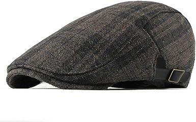 RICHTOER Stripe Hat Newsboy Cap Men Women Flat Caps Summer Cotton Beret Outdoors