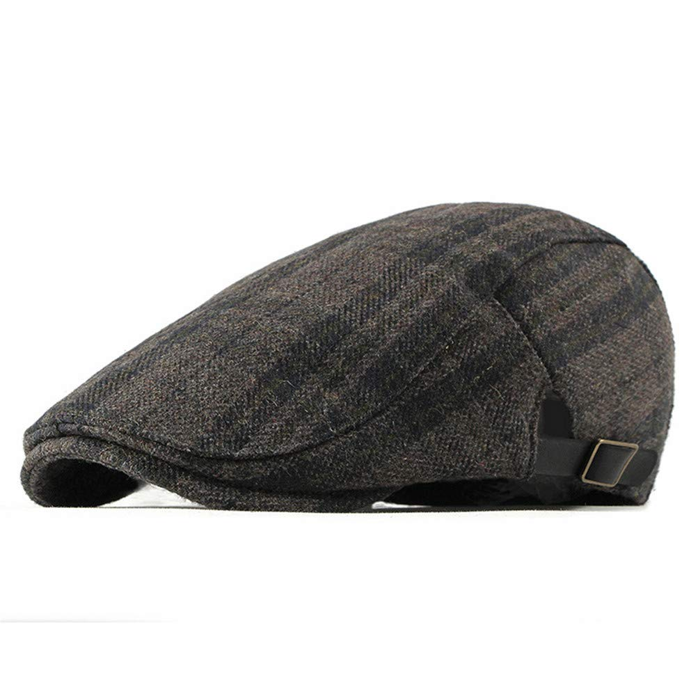 RICHTOER Tartan Beret Winter Newsboy Cap Men Women Flat Caps Hat Outdoors