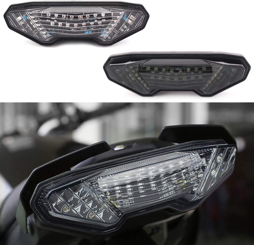 GUAIMI Integrated LED Tail Light Turn Signals For Yamaha MT-09 2014-2016 MT-09 Tracer 2015-2018 Tracer 900//GT 2019 FJ-09 2015-2018 FZ-09 2014-2016 MT-10 2016-2019 FZ-10 2016-2019