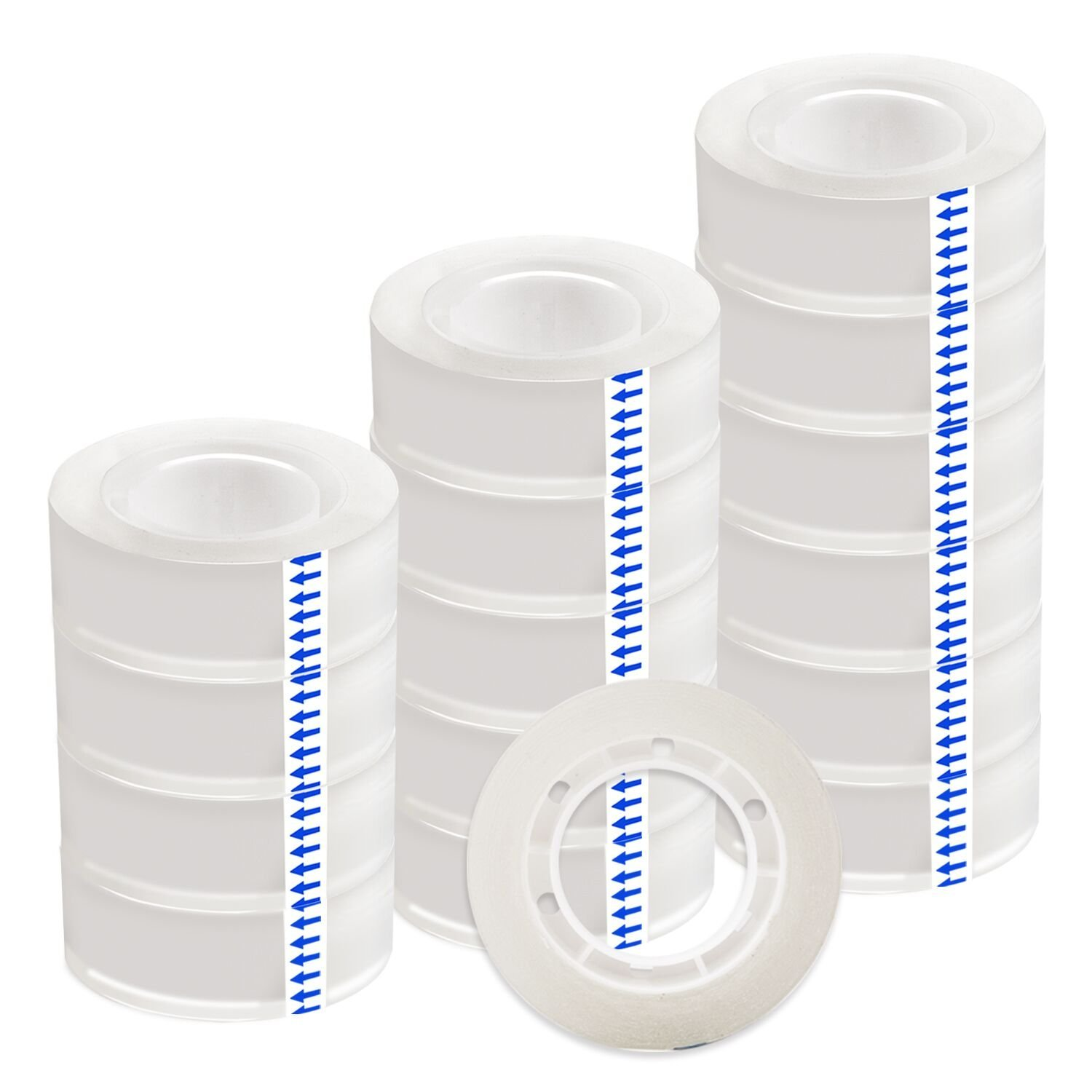 LUTER Clear Tape Transparent Tape Tape Refill 18mm 3/4 inches Tape Rolls for Office, Home, School (16 Rolls)