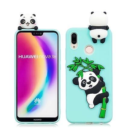 Amazon.com: MZBaoLingMeiDongUS Huawei P20 Lite Case, Panda ...