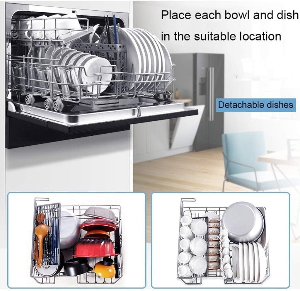 DFQX Mini Lavavajillas Lavavajillas 304 Embedded caj/ón Acero Inoxidable Plato de Peque/ño Apartamento Oficina y Familia Restaurante de la Cocina